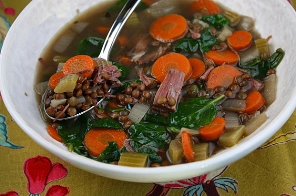 Ham and Lentil Soup Recipe