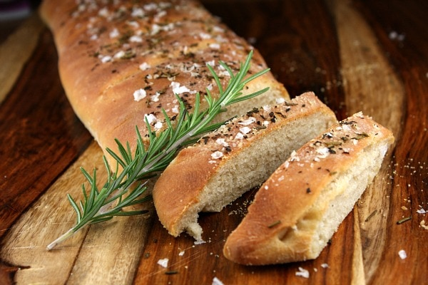 Rosemary Sea Salt Italian Bread