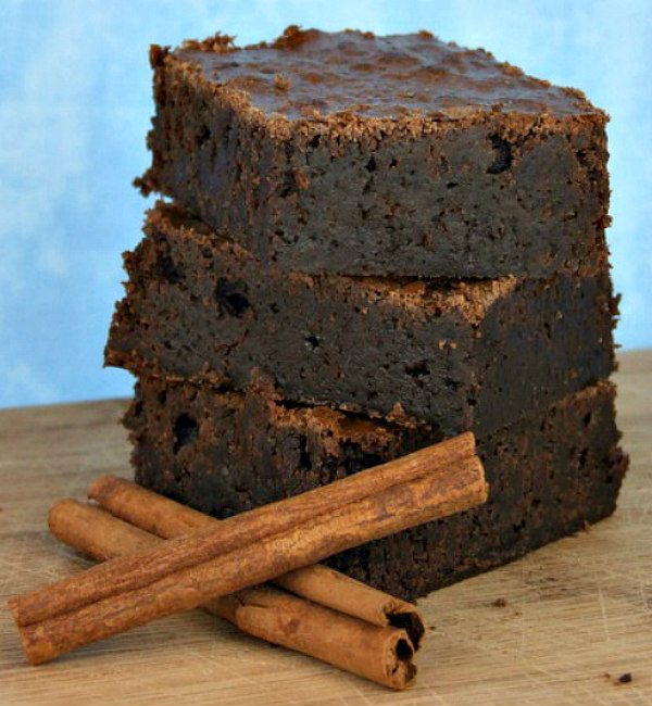 Baked Spicy Brownies - recipe from RecipeGirl.com