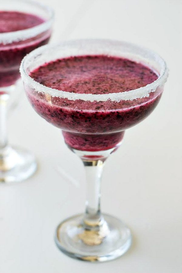 Blueberry Margaritas Recipe - RecipeGirl.com