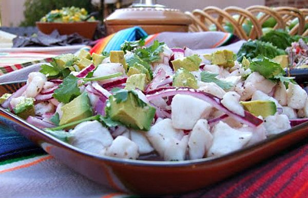 Salt and Pepper Ceviche - recipe from RecipeGirl.com