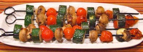 Chipotle Glazed Vegetable Kebabs