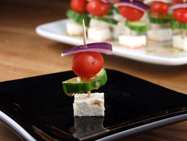 Easy Greek Appetizer Skewers Recipe Girl