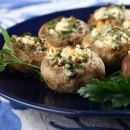 Feta-Stuffed Mushrooms