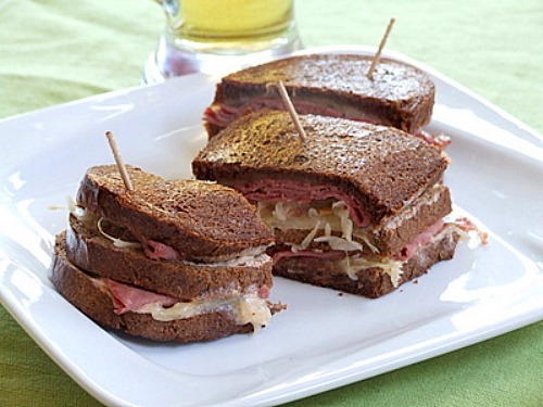 Grilled Reuben Sandwiches - recipe from RecipeGirl