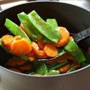 Honey Glazed Pea Pods and Carrots