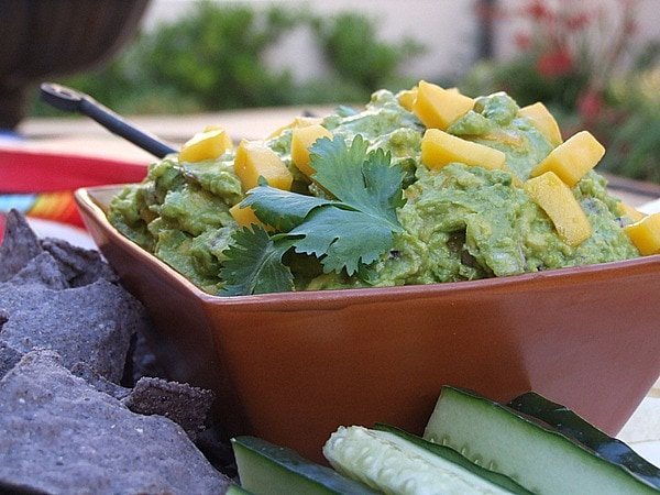 Mango Guacamole - recipe from RecipeGirl.com