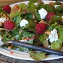 Mixed Greens with Goat Cheese and Raspberry Vinaigrette