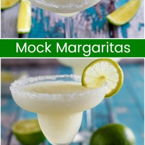 pinterest collage image for mock margaritas