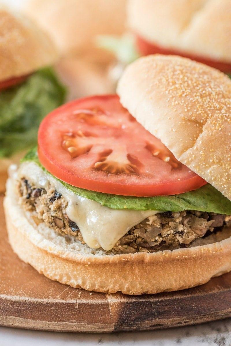 Mushroom Veggie Burgers Recipegirl