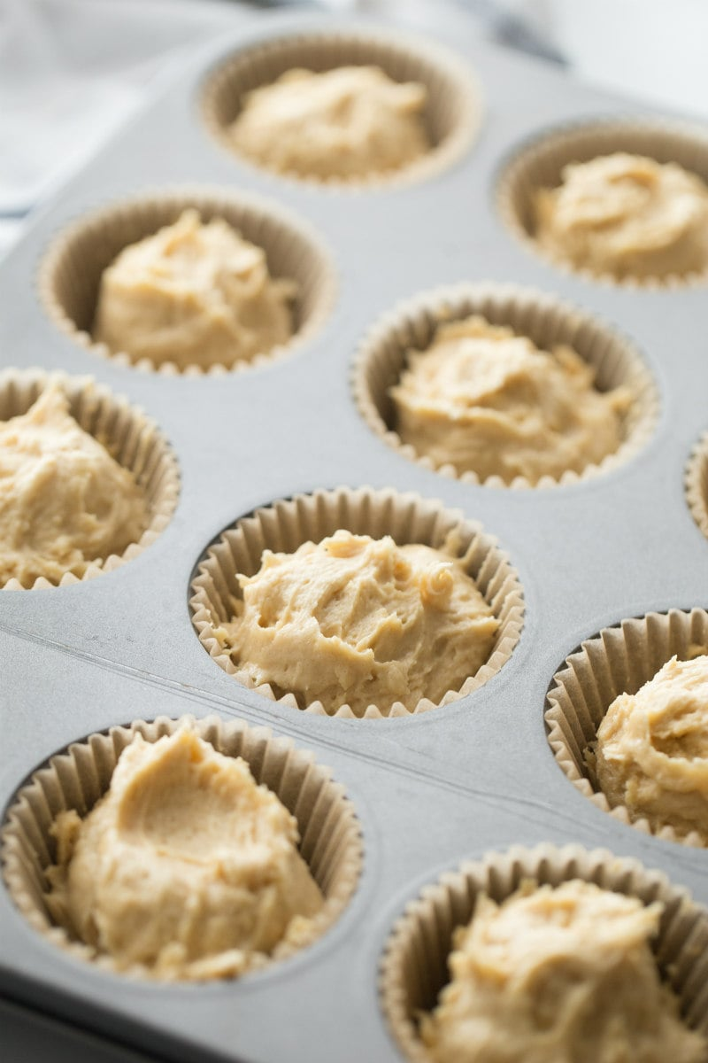 Peanut Butter Cookie Cupcakes ready for oven
