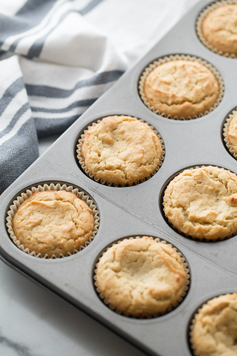 Peanut Butter Cookie Cupcakes in baking pan