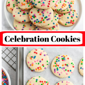 pinterest collage image for celebration cookies
