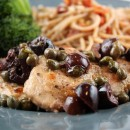 Pork Medallions with Olive Caper Sauce 1