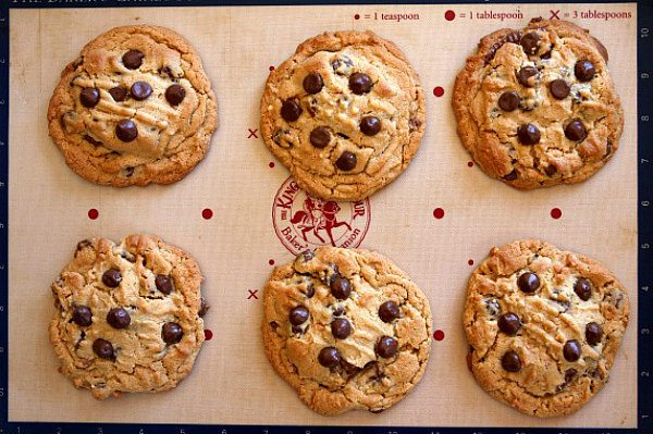 Reeses Stuffed Peanut Butter Chocolate Chip Cookies recipe - from RecipeGirl.com
