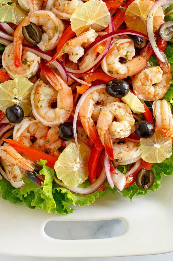 Spicy Lemon Shrimp Salad