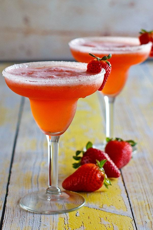 Strawberry Margaritas Recipe Recipe Girl
