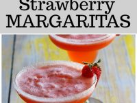 pinterest collage image for strawberry margaritas