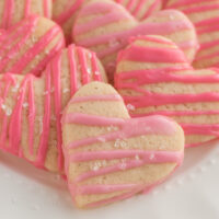 weight watchers sugar cookies heart shaped on white platter