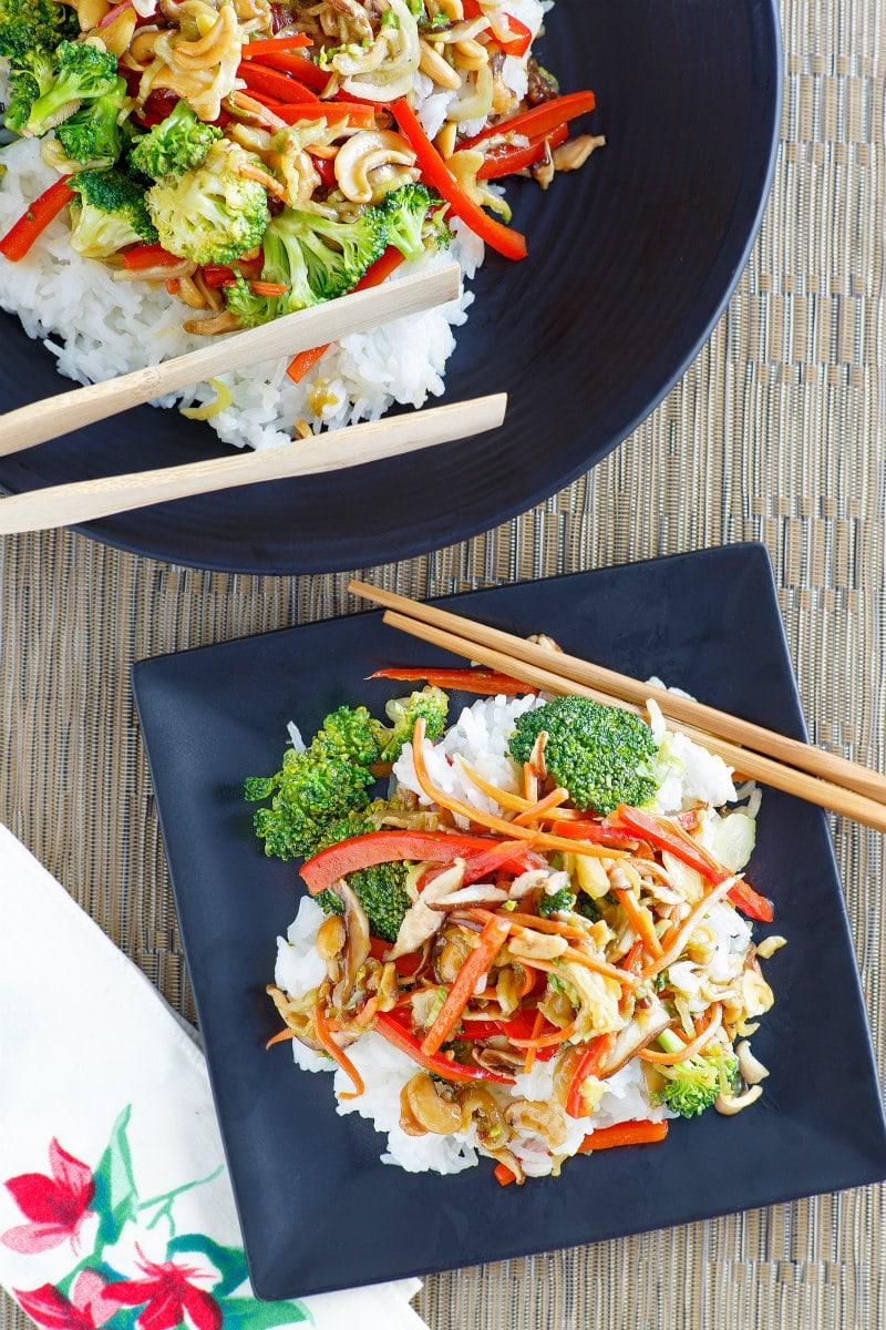 serving of Asian Vegetable Stir Fry
