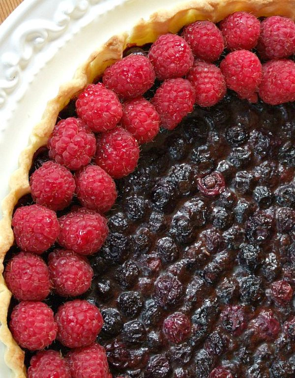 Blueberry Raspberry Tart
