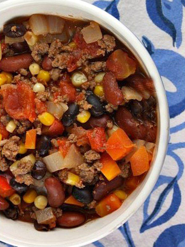 Confetti Chili recipe - from RecipeGirl.com
