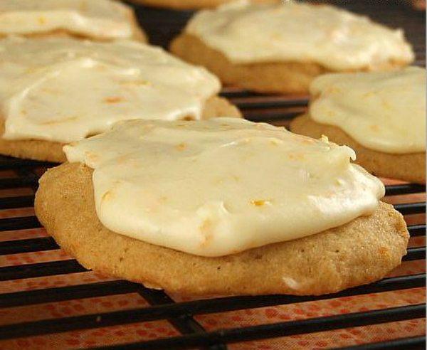 Iced Orange Cookies - recipe from RecipeGirl.com