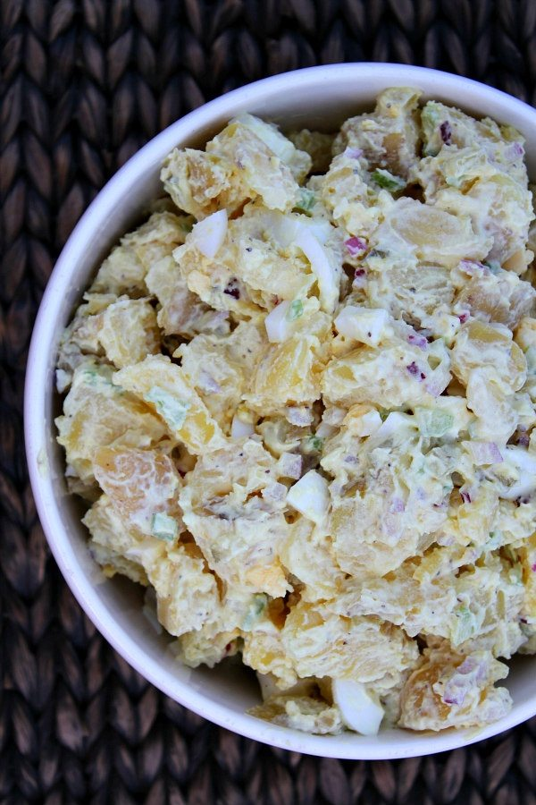 All american potato salad recipe girl bowl of all american potato salad forumfinder Images