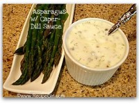 Asparagus with Caper Dill Sauce Pic