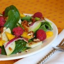 Baby Spinach Salad with Warm Citrus Vinaigrette
