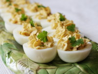 Bacon Balsamic Deviled Eggs