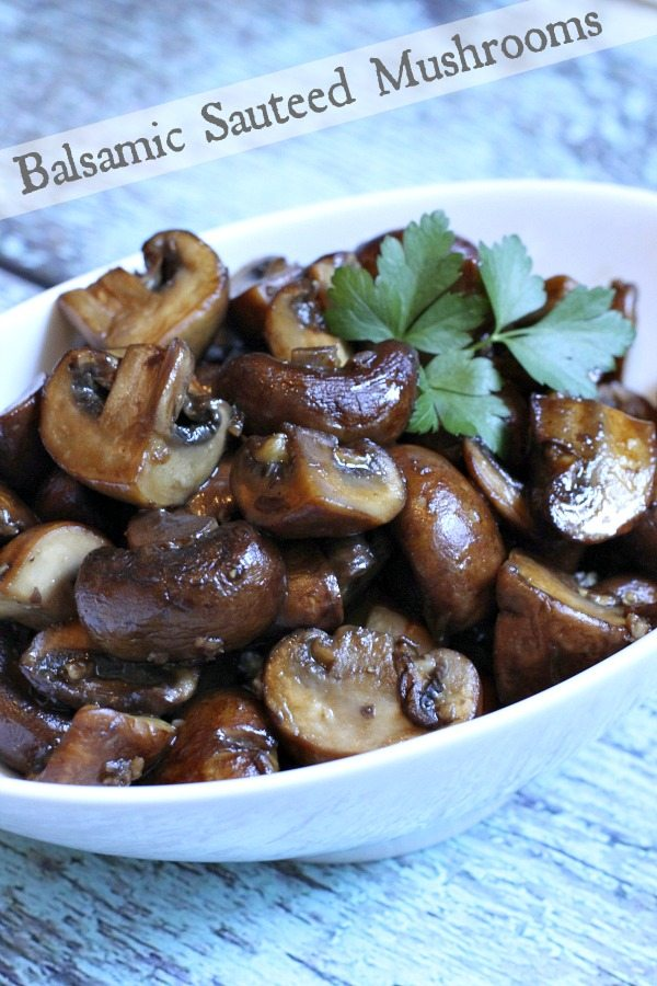 Balsamic Sauteed Mushrooms #recipe - RecipeGirl.com