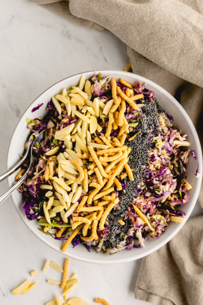 black eyed cabbage salad in a bowl