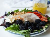 Blackberry Salad with Pork
