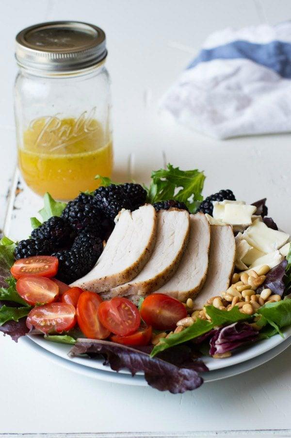 Blackberry Salad with Pork Recipe - RecipeGirl.com