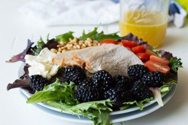 Blackberry Salad with Pork