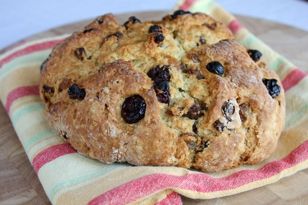 Breakfast Irish Soda Bread with Dried Cherries and Raisins