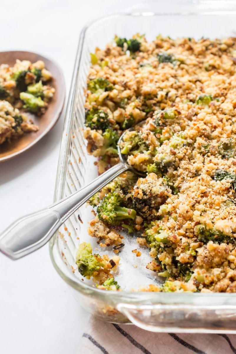 serving Broccoli Gratin