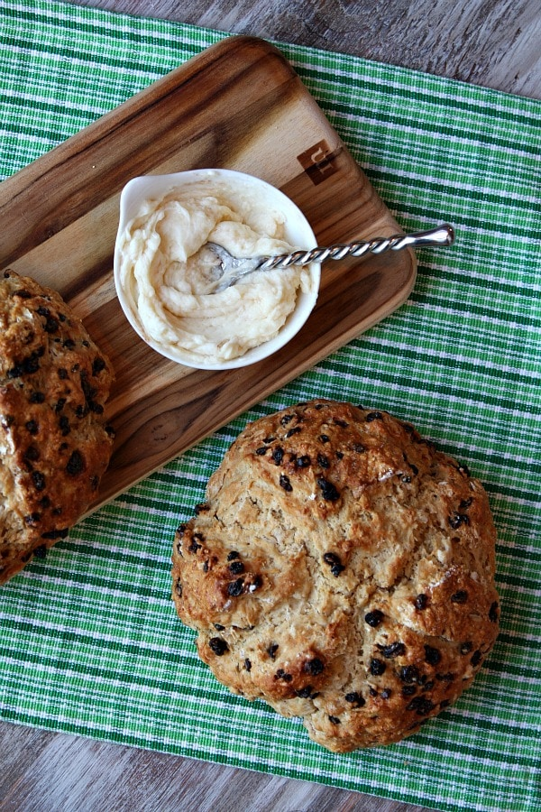 Brown Butter Soda Bread with Honey- Cinnamon Butter