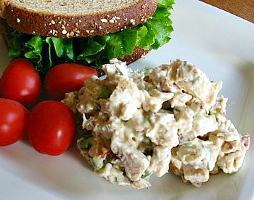 Chicken Almond Salad Sandwiches