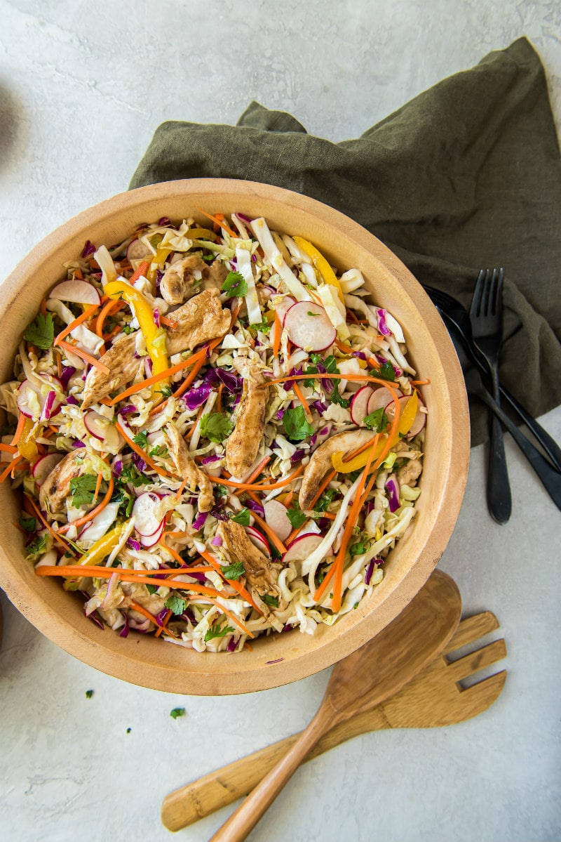 bowl of Chinese Grilled Chicken Salad