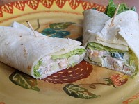 Crunchy Chicken Salad Wraps