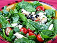 Grilled Chicken and Spinach Salad