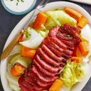 irish corned beef and cabbage on plate