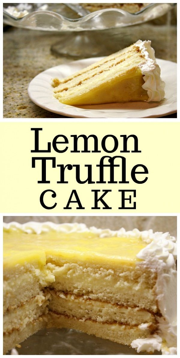 Lemon Truffle Cake recipe