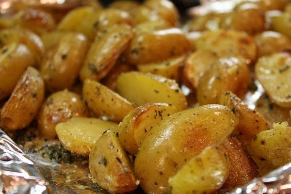 Lemon- Salt Roasted Potatoes
