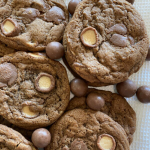 malted milk cookies with malt balls
