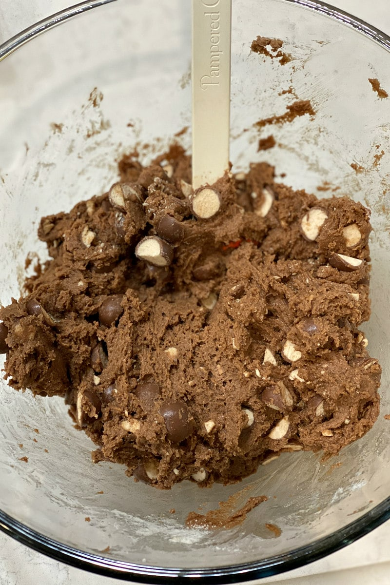 malted chocolate cookie dough