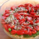 Orzo Salad with Green Beans Tomatoes and Corn Pic