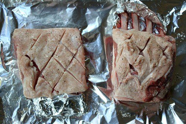 preparing Rack of lamb to cook
